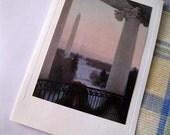 2008 Truman Balcony Bush Christmas Card, 2008 White House Card, Hallmark Card, George Bush, Laura Bush, Collector card