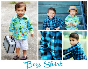 Shirt Pattern for Boys