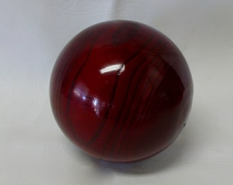 Vintage Decorative Solid Wood Ball Carpet Ball Wooden Orb Sphere High Gloss