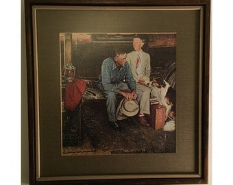 """Norman Rockwell's """"Breaking Home Ties"""" Reproduction (Framed)"""