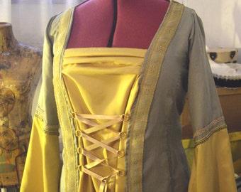 MADE TO ORDER Medieval Elegant Woman Dress Renaissance Fantasy Lotr Reenactment Sca Wedding Larp