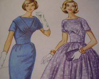 Vintage 1960's McCall's 5722 Dress Sewing Pattern, Size 16, Bust 36