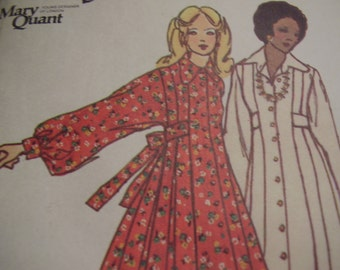 Vintage 1970's Butterick 6916 Mary Quant Dress Sewing Pattern, Size 9, Bust 32