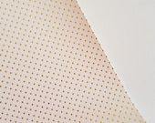 8x11 NEW White with Gold Metallic Dots Fabric Sheet