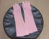 Vintage Ladies Pastel Pink Evening Gloves Dusky Pink Three quarter Gloves Pinkham Gloves Simplex Gloves