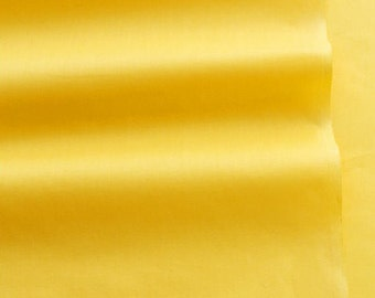 Solid Yellow Cotton Fabric - 59 Inches Wide - Fabric By the Yard 67641