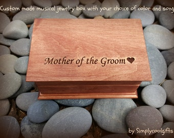 wedding gift box, musical jewelry box, mother of the groom gift, music box, jewelry box, wedding gift, wooden music box, mother of the groom