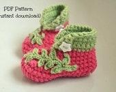 Crochet baby shoes pattern, crochet baby booties, crochet baby shoes pattern, Silvia shoes, 0-6 and 6-12 months