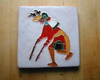 Mckusick Terra Cotta Pottery Tile Native American Indian