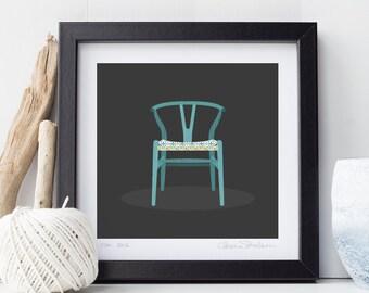 Hans J. Wegner classic midcentury modern Wishbone Chair