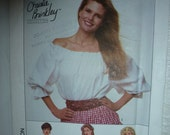 Vintage Christie Brinkley Collection Simplicity Pattern 9162 for Misses' Blouse in Sizes PT-LG (6-8 to 18-20)