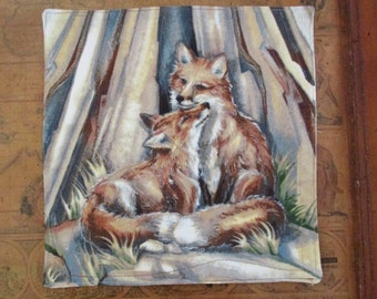 Fox Love Quilted Mug Rug
