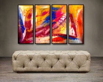 """In Your Eyes- 48"""" X 30"""" Original Art . Free shipping within USA"""
