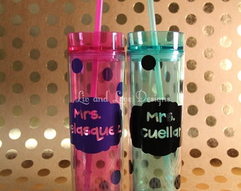 Personalized 16oz double wall tumbler. Bpa Free