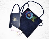 Felt Purse Passport Travel  Navy