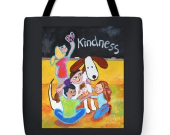 large tote children kindness colorful Peggy Johnson every good color