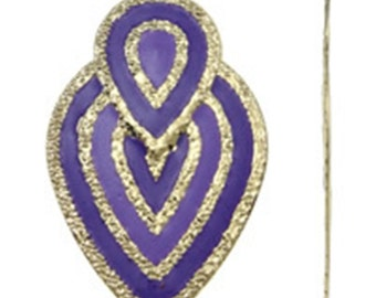 2pc 70x42mm gold plated iron with enamel pendant-10217