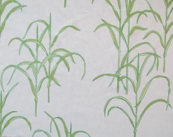 Vintage Sheet Fabric Fat Quarter - Green Grasses - 1 FQ