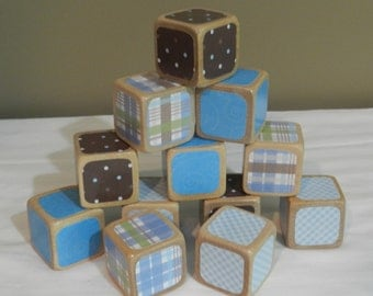 Baby Shower DIY Wooden Blocks Baby Block Decorating Kit