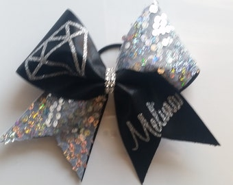 Diamond Cheer bow with sequin
