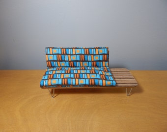 1/12 Scale Miniature Midcentury Sofa / Day Bed