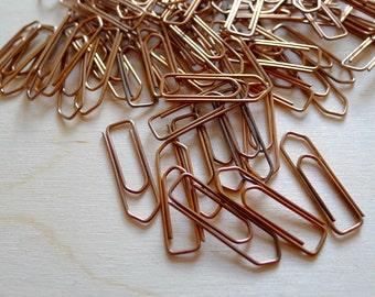 50 Copper Metal Paper Clip VINTAGE