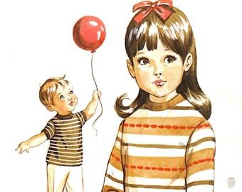 Boy's or Girl's Tee Shirt Pattern Kwik Sew 306