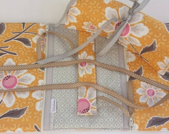 Ready to ship! Yellow Daisy Travel Jewelry Roll