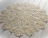 Large crochet doily Ivory lace doilies Table decoration Cream crochet centerpiece Large lace doily Crochet decoration Living room decor