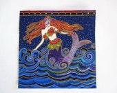 "Mermaid 5"" Iron On Patch Applique"