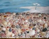 Seashell Post Mount Mailbox-Coastal Mailbox-Beach House Mailbox