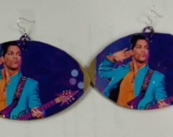 Prince huge earrings