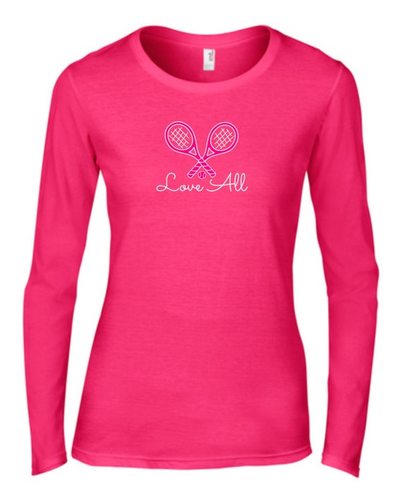 Tennis Love All Tshirt, Pink Tshirt, Tennis.see™ Tshirt, Love all Shirt, Pink Tennis Shirt, Pink Tennis Top, Tennis Shirt, Hot Pink Tennis