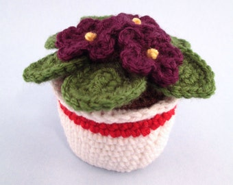 Crochet African Violet - Made to order