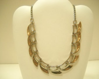 Vintage Silver Tone Link Necklace (6503)
