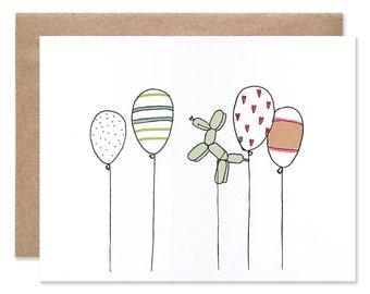 Celebratory Balloons Card