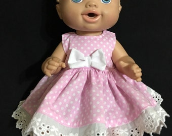 Dolls clothes made to fit 32cm (size small) Little Baby Alive dolls
