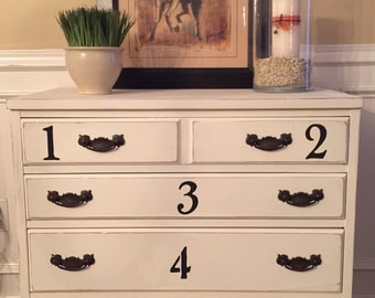 SOLD Vintage Wood Chest Hand Painted Annie Sloan Old White