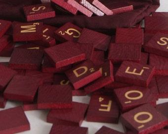 Dark colored Scrabble Tiles Altered Art