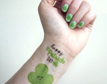 St Patricks Day - Nail and Tattoo Transfers - St Patricks Day Nails - St Patricks Day Tattoos - Paddys Day