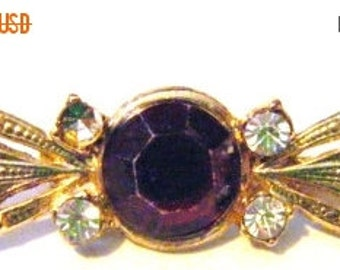 25% Off Storewide Sale Vintage Beautiful Ruby Red Stone with Rhinestones Brooch
