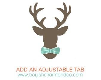 Vest Add-On, Adjustable Tab