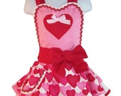 Valentine Childs Apron, Mother Daughter Apron