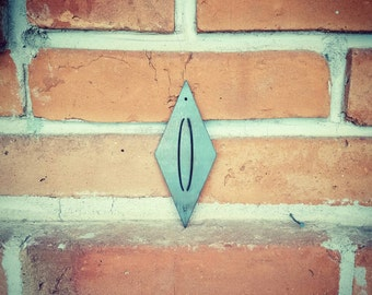 Diamond Numbers,House Numbers,MCM,Mid Century,Address, Metal Numbers,Home Decor,Outdoor numbers,Numbers,MCM