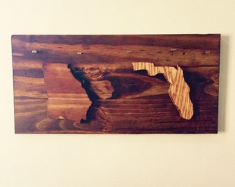 Wood Key Holder, customized States