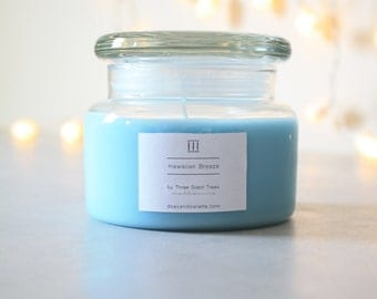 Three Silent Trees | Hawaiian breeze soy candle | small apothecary jar