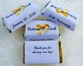 180 WEDDING ANNIVERSARY 50th, 60th, etc... wrappers/labels for your Hershey MINIATURES (Personalized Favors) for your party or any event