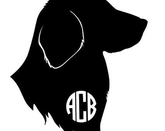 Monogram Labrador Retriever decal for Car Window / DIY Decal / Car Decal / Tumbler Decal /Water Bottle Decal
