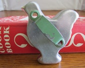 Vintage Hen Cookie Cutter with Green Handle