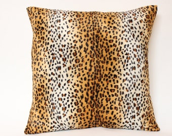 Velvet Leopard Print Pillow